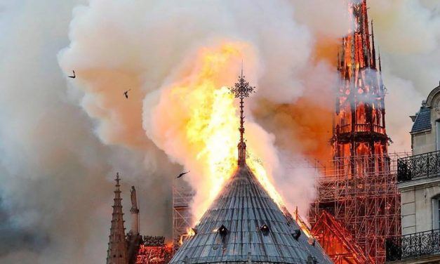 Massive Fire Rages at Notre Dame Cathedral in Paris
